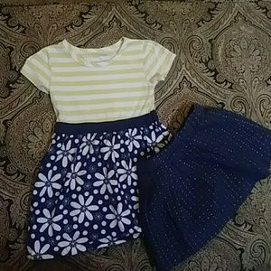 Girls navy dress bundle
